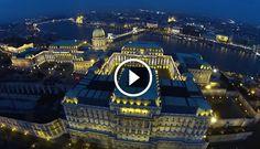 Csodálatos éjszakai képsorok Budapestről, madártávlatból!