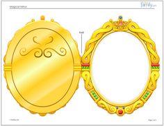 Magic Mirror birthday Invitations: Use this template to make Evie Magic mirror invites .