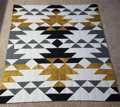 Quilts for Boys — Shannon Gillman Orr Modern Quilt Patterns, Quilt Block Patterns, Quilt Blocks, Modern Quilting Designs, Cute Quilts, Boy Quilts, Southwestern Quilts, Southwestern Style, Indian Quilt