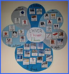 French winter vocabulary. La fleur d'hiver!