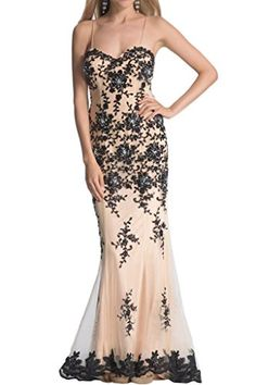 La Mariee Vintage Mermaid Lace Applique Prom Ball Dresses For Women26WChampagne * Read more reviews of the product by visiting the link on the image.