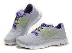 Nike Free Gray Purple Womens Shoe
