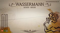 Wochenhoroskop: Wassermann (KW 41 - 2016) - So stehen deine Sterne Kinder Wochen vom 10. - 16.10.2016 #Horoskop #Wassermann #Liebe #Gesundheit #Job