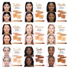Color Chart For Our Touch Mineral Foundation Line Amp Skin