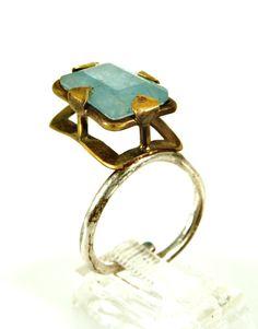 Silver jewelryEngagement ringsAquamarine by dhaabakaaspa on Etsy, $150.00