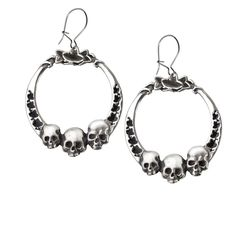 Ivy League Skulls Hoop Earrings Alchemy Alternative Lifestyle Women's Jewelry -- Check out the image by visiting the link.-It is an affiliate link to Amazon. #Earring