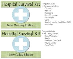 Hospital Survival Kits for the Mommy and Daddy to be - www.HappeningsbyHillary.com