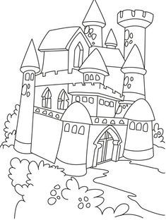 Castle And Princess Coloring Pages from category. Find out more awesome printable coloring for your child Castle Coloring Page, Frozen Coloring Pages, Dragon Coloring Page, Princess Coloring Pages, Coloring Pages For Girls, Cartoon Coloring Pages, Coloring Pages To Print, Free Printable Coloring Pages, Coloring For Kids