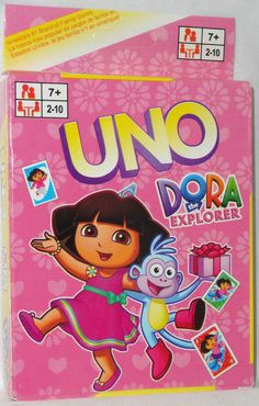 UNO DORA THE EXPLORER Card Game NEW #Mattel Family Game Night, Family Games, Dora And Friends, Dora The Explorer, Card Games, Cards, Ebay, Confidence, Maps
