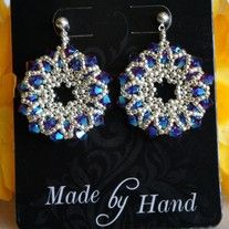 Crystal Bling Earrings. These earrings are made with 4mm Swarovski Siam 2XAb bicone crystals and 11/0 and 15/0 silver seed beads.