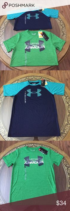 UNDER ARMOUR (YL) BOYS SHIRT SET Brand New Under Armour Size: YL Boys Shirt Set. Heatgear, Keeps you Cool, Dry and Light. Beautiful Color and Very Comfortable. Under Armour Shirts & Tops Tees - Short Sleeve