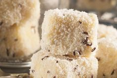 From the YOU kitchen: Ultimate white chocolate lamingtons My Recipes, Sweet Recipes, Cake Recipes, Dessert Recipes, Cooking Recipes, Favorite Recipes, Recipies, Desserts, Ma Baker