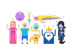 Adventure Time - a lecture on the use of color :))  + vector .eps file ;)