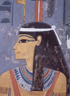 Egypt, Luxor, Valley of the Kings, King Horemheb's Tomb, Painting
