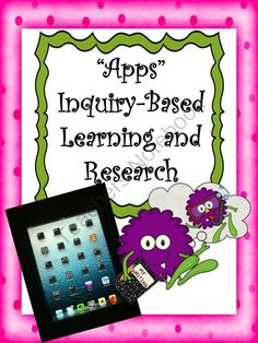Apps for Inquiry Based Learning and Research from Sweet Integrations...With a Taste of Technology on TeachersNotebook.com (10 pages)
