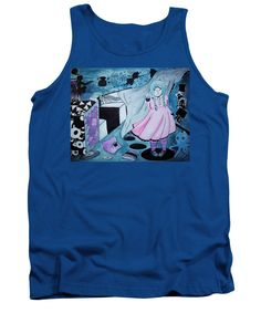 Mystery Girl-cyclops Tank Top featuring the painting Midnight Dream by Tiana Art