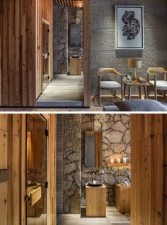 Guigu SPA Pavilion in Fuzhou, China Wood and stone have been used in key design…