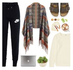 """""""Untitled #52"""" by fikanur4 ❤ liked on Polyvore featuring ファッション, Uniqlo, NIKE と Birkenstock"""