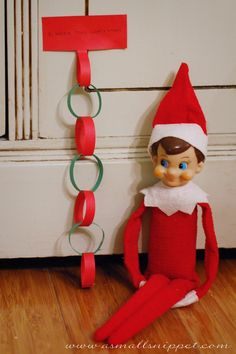 I think this is how I will introduce our elf. He will show up with a letter explaining why he's there and give the kids a chain count down til Christmas day when the big guy comes and elf leaves.