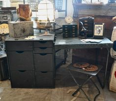 Vintage Military Field Desk