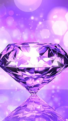By Artist Unknown. Chevron Wallpaper, Diamond Wallpaper, Pretty Phone Wallpaper, Purple Wallpaper Iphone, Crystal Diamond, Diamond Gemstone, Nice Backgrounds, Psychedelic Colors, Future Wife