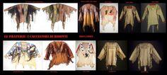 Casacche sioux ornate (ricami, capelli crini, frange, pellicce) e dipinte sia all'uso delle praterie centrali che a quello dei popoli a cavallo tra le praterie settentrionali e le foreste canadesi.
