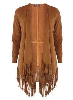 Tan Suedette Fringe Throw On Stylish Jackets, Ladies Fashion, Womens Fashion, Coats For Women, Boho, Lady, Long Sleeve, Sleeves, Sweaters