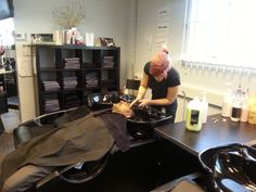 Barbering students hard at work at ALD Hair & Beauty Academy Gateshead