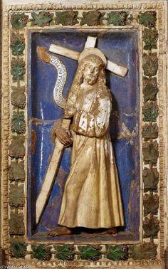 Girolamo Della Robbia (Florence, 1488-1556) ~ Christ Carrying the Cross ~ 1513 ~ Terracotta ~ Certosa del Galluzzo, Florence, Italy