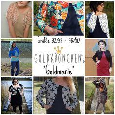 Nähanleitungen Mode - Goldmarie Ebook, Kleid, Hoodie, Shirt Gr.32-50 - ein Designerstück von Goldkroenchen bei DaWanda