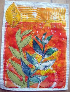 Arizona heat by janelafazio monoprint on fabric