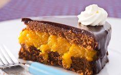 chocolate and apricot cake Cookbook Recipes, Gourmet Recipes, Sweet Recipes, Cake Recipes, Dessert Recipes, Dessert Food, Dinner Recipes, Food Cakes, Cupcakes