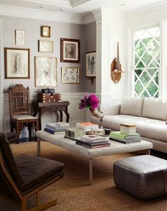 Eclectic living room by Windsor Smith.