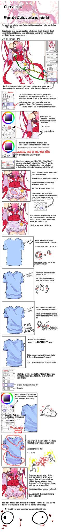Tutorial: Clothes Coloring by Curryuku.deviantart.com
