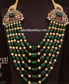 Emerald South Sea Pearls Mala photo