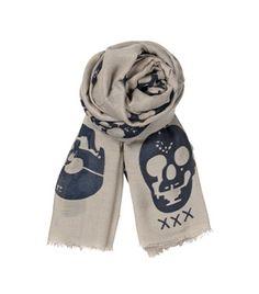 Becksondergaard C-Laughing Skulls Light Grey Scarf Skull Scarf, Scarf Belt, Grey Scarf, Modcloth, Alexander Mcqueen Scarf, Beachwear, Scarves, Underwear, Tights