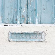 Items similar to Mail Box Letters Photography print, France rustic teal fine art wall poster french home decor still life color monochromatic photography on Etsy Letter Photography, Fine Art Photography, Verde Aqua, Love Blue, Blue And White, Bleu Pale, Christmas In Paris, France Photos, French Home Decor