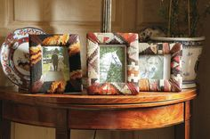 Kilim Photoframes  No two are ever the same, so you cannot have too many....  25cm x 21cm  Price £45