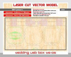 """Thank you for visiting our store. For sale is laser cut vector model. Digital product includes --- AI, EPS, CDR, SVG, DFX --- files. ---DESIGNS--- Vector pattern have a unique design. ---SET of 2 PATTERNS --- patterns create of plywood - 3,2 mm (1/8"""") patterns create of plywood - 4mm"""