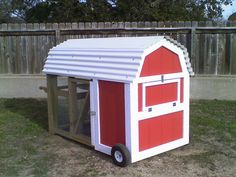 Mini Barn Chicken Coop - for my dream house in the country