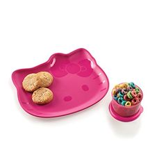 Tupperware Hello Kitty Snack Collection - Available for a limited time only! Microwave-reheatable embossed plate featuring Hello Kitty! Plus FREE 4-oz. Snack Cup