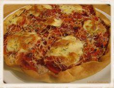 Tarte à la tomate, poivrons et mozzarella (2)