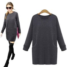 Long-sleeve Thickening Dress