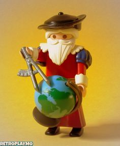 Playmobil custom figure:  Gerardus Mercatot,  Cartographer (1512-1594)