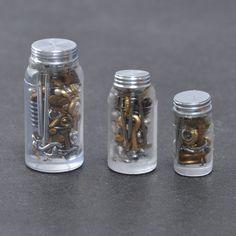 Three Piece Nuts and Bolts Jar Set