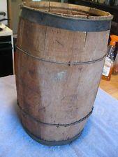 Antique Barrel Nail Keg Vintage Old Primitive  Country Wood Storage