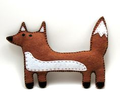 Fox Hand Sewing PATTERN - Felt Stuffed Animal PDF - Easy to Make Soft Toy Decoration