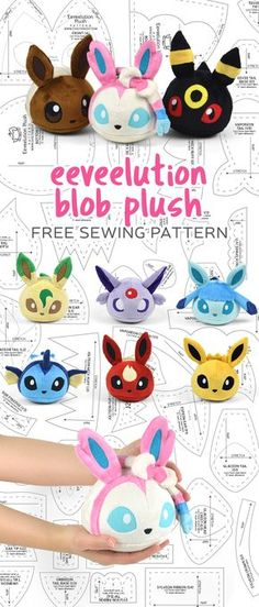 Hi everybody! I still hadn't quite gotten over my Pokemon binge sewing from October so I had to delve into the Eeveelution pool just one more time with this new pattern :D It's a simple blob-shaped…