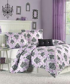 Another great find on #zulily! Purple Isobel Comforter Set #zulilyfinds