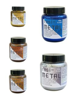 Specially formulated for use with EliChem resins, this collection of 5 colors allows you to add metallic colors and swirls to your resin for realistic metallic effects. The new Resi-METAL pigments wer